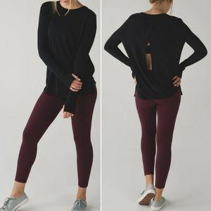 Lululemon Bring It Backbend Sweater in Black